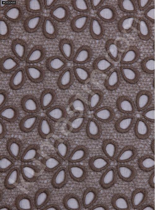 Çiçek Desenli Güpür - Haki - K4045
