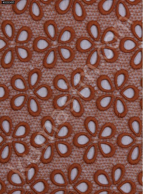 Çiçek Desenli Güpür - Hardal - K4045