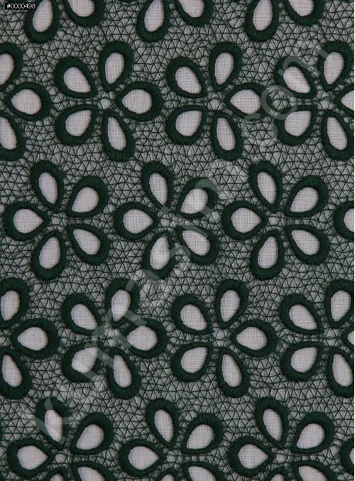 Çiçek Desenli Güpür - Zümrüt - K4045