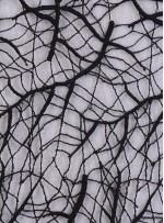 Ağaç Dalı Desenli Siyah Güpür Kumaş - K4085