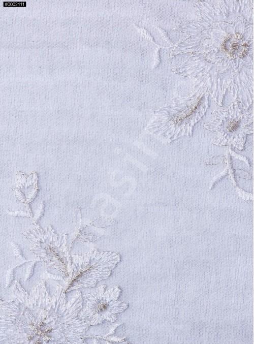 Çiçek Desenli Kesilebilir Gold Aplik Kumaş - K5000