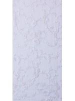 Çiçek Desenli Beyaz Gümüş Dantel Kumaş - K5001