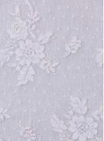 Çiçek Desenli Renkli Kordoneli Dantel Kumaş - K5011