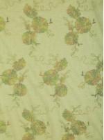Nakışlı Çiçek Desenli Kordoneli Dantel Yeşil Kumaş - K5051