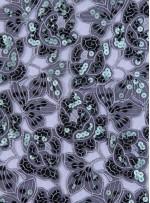 Çiçek Desenli Payetli Abiyelik Yeşil Kumaş - K5136