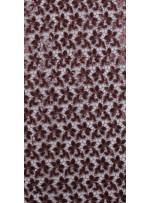 Güpür Üzeri Payetli Kahverengi Abiyelik Kumaş - K5139
