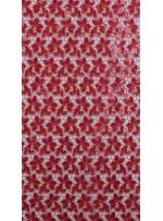 Güpür Üzeri Payetli Kırmızı Abiyelik Kumaş - K5139