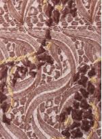 Nakış ve Payet İşlemeli Kahve Abiyelik Kumaş - K5152