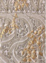 Nakış ve Payet İşlemeli Yeşil Abiyelik Kumaş - K5152