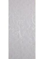 Şifon Üzeri Payet Saçaklı Beyaz Abiyelik Kumaş - K5154