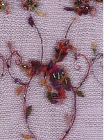 Akış Desenli Boncuk İşlemeli Bordo Abiyelik Kumaş - K5402