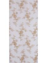 Çiçek Desenli Gold Nakışlı ve Boncuklu Abiyelik Kumaş - K5414