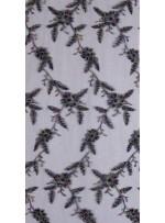 Eteği Sulu Boncuklu Siyah Kumaş - K5446