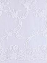 Eteği Sulu Beyaz Nişanlık Boncuklu Abiyelik Kumaş - K5462