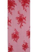 Çiçekli Eteği Sulu Nakışlı Kırmızı Nişanlık Boncuklu Abiye Kumaş - K5466