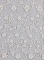 Yaprak Desenli Kemik Boncuklu Abiyelik Kumaş - K5472