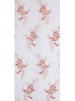 Çiçek Desenli Eteği Sulu Nişanlık Boncuklu Abiye Kumaş - Turuncu - K5482