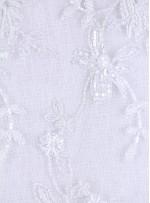 Aplike Kesilebilir Boncuk İşlemeli Beyaz Kumaş - K5623