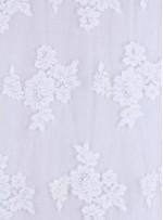 Boncuk İşlemeli Kordoneli Beyaz Kumaş - K5627