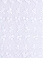 Çiçek Desenli Beyaz Gelinlik Kumaş - K5657