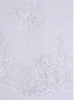 Eteği Sulu Nakış Üzeri Payetli Gelinlik Kumaş - K5658