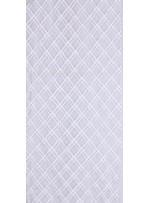 Baklava Desenli Boncuklu Beyaz Gelinlik Dantel Kumaş - K5664