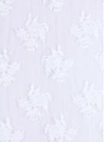 İnci Boncuklu ve Kordoneli Beyaz Gelinlik Kumaş - K5666