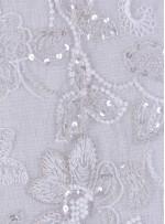 Kemik Kesme Taşlı Gelinlik Kumaşı - K5673