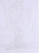 Yaprak Desenli Boncuklu Gelinlik Kumaşı - K5674