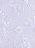 Boncuklu ve Payetli Gelinlik Kumaşı - K5675