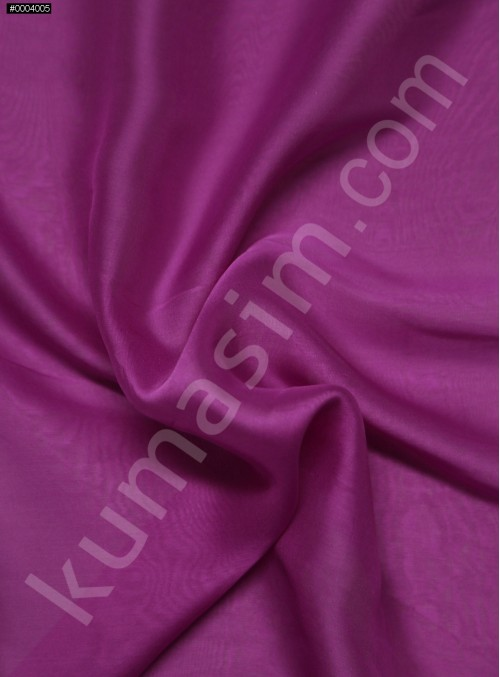 Elbiselik %100 İpek Fuşya Şifon Kumaş - 123 - K6000