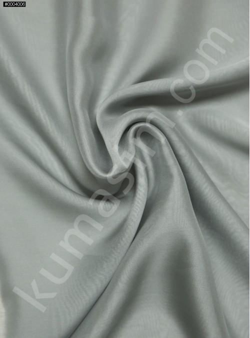 Elbiselik %100 İpek Gri Şifon Kumaş - 124 - K6000