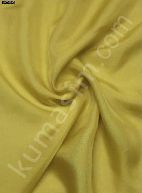Elbiselik %100 İpek Hardal Şifon Kumaş - 104 - K6000