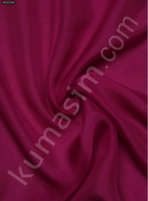 Elbiselik %100 İpek Koyu Fuşya Şifon Kumaş - 110 - K6000