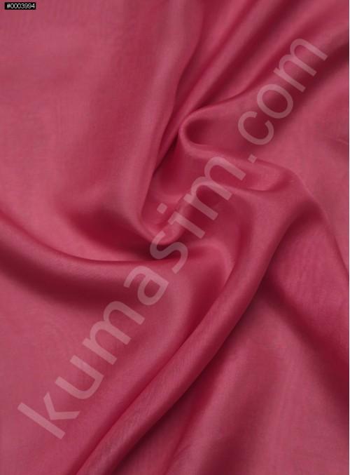 Elbiselik %100 İpek Koyu Mercan Şifon Kumaş - 108 - K6000