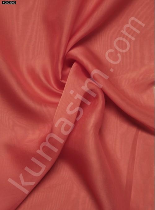 Elbiselik %100 İpek Mercan Şifon Kumaş - 107 - K6000