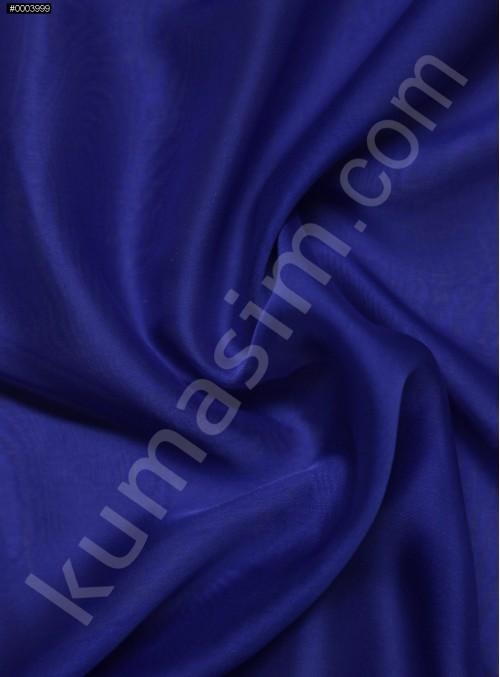 Elbiselik %100 İpek Saks Şifon Kumaş - 114 - K6000