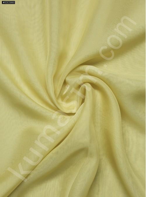 Elbiselik %100 İpek Sarı Şifon Kumaş - 103 - K6000