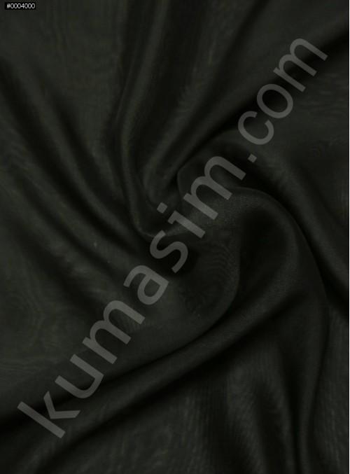 Elbiselik %100 İpek Siyah Şifon Kumaş - 118 - K6000