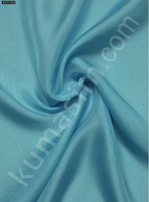 Elbiselik %100 İpek Turkuaz Şifon Kumaş - 113 - K6000