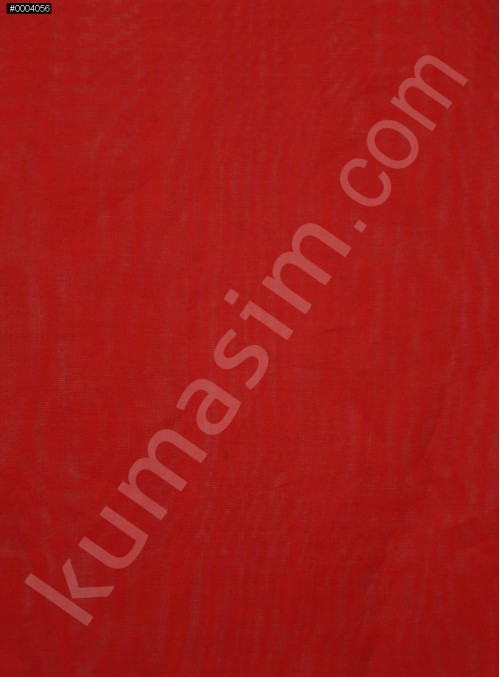 Kırmızı İpek Organze Kumaş - 114 - K6001
