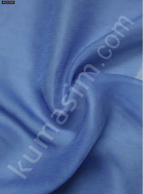 Elbiselik İndigo Mavi İpek Yoryo Şifon Kumaş - 112 - K6002