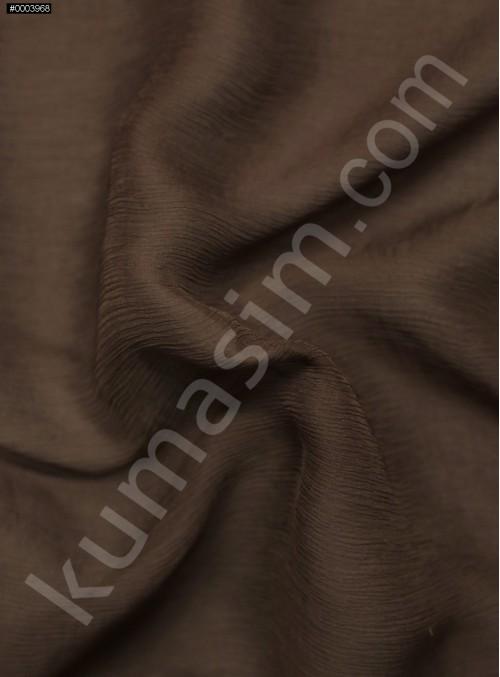 Elbiselik Kahverengi İpek Yoryo Şifon Kumaş - 115 - K6002