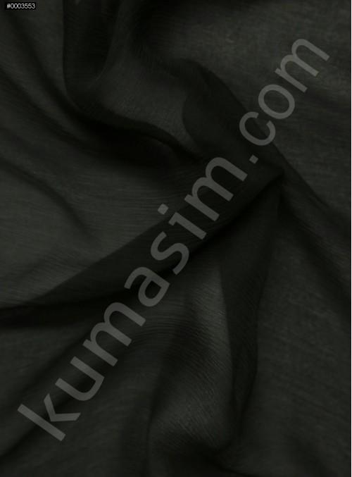 Elbiselik Siyah İpek Yoryo Şifon Kumaş - 101 - K6002