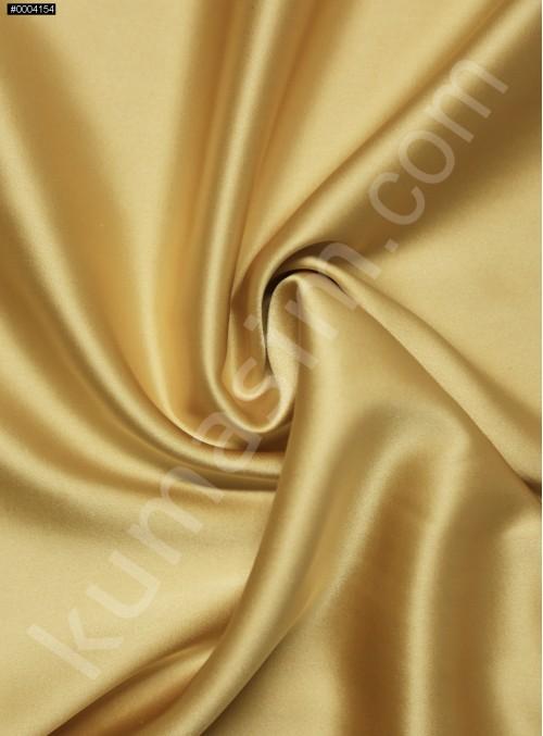Elbiselik Açık Gold %95 İpek - %5 Likra Saten Kumaş - 125 - K6007
