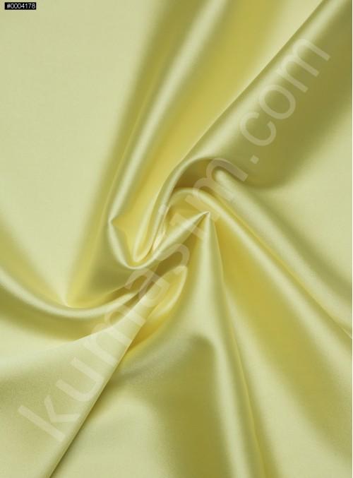 Elbiselik Açık Sarı %95 İpek - %5 Likra Saten Kumaş - 128 - K6007