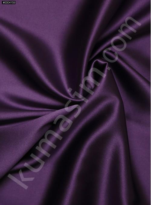 Elbiselik Eflatun %95 İpek - %5 Likra Saten Kumaş - 126 - K6007