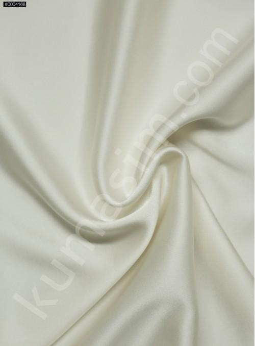 Elbiselik Ekru %95 İpek - %5 Likra Saten Kumaş - 122 - K6007