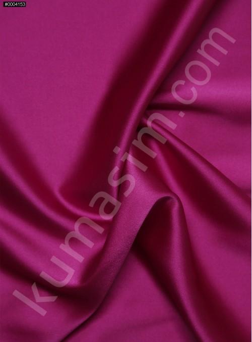 Elbiselik Fuşya %95 İpek - %5 Likra Saten Kumaş - 111 - K6007