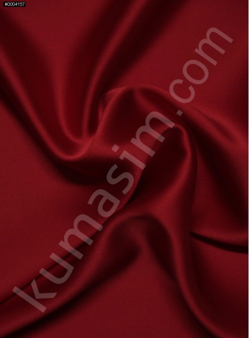 Elbiselik Kırmızı %95 İpek - %5 Likra Saten Kumaş - 113 - K6007